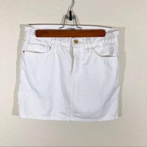 Frame denim white mini skirt